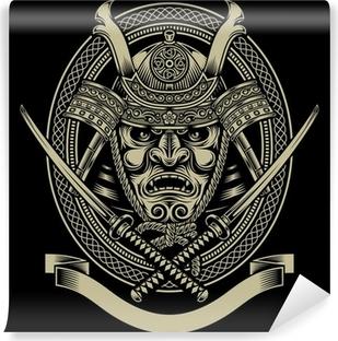 Vinyl-Fototapete Samurai-Krieger mit Katana Schwert