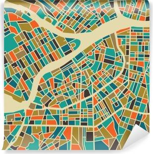 Vinyl-Fototapete Sankt Petersburg Vektorkarte. Bunte Vintage-Design-Basis für die Reise-Karte, Werbung, Geschenk oder Plakat.