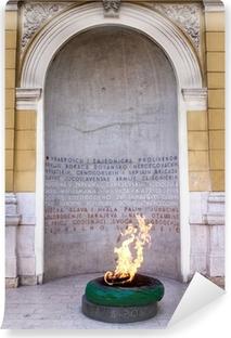 Vinyl-Fototapete Sarajevo, Bosnien und Herzegowina - Forever Feuer Denkmal