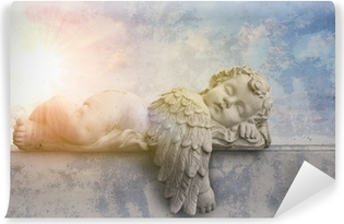 Vinyl-Fototapete Schlafender Engel im Sonnenschein