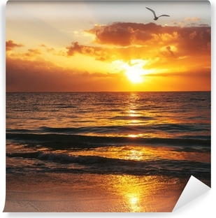 Vinyl-Fototapete Sea sunset