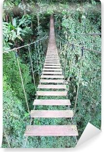 Vinyl-Fototapete Seilbrücke auf hohen Waldbaum, Chiang Mai, Thailand