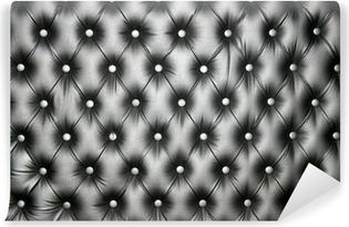 Vinyl-Fototapete Silber Leder