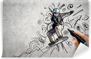 Vinyl-Fototapete Snowboarden