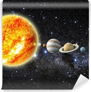 Vinyl-Fototapete Sonnensystem