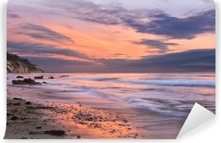 Vinyl-Fototapete Sonnenuntergang in Santa Barbara