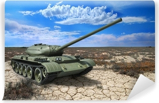 Vinyl-Fototapete Sowjetischen Panzer T-54 von 1946 Jahre