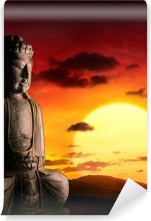 Vinyl-Fototapete Spirituellen Hintergrund der asiatischen Kultur mit Buddha