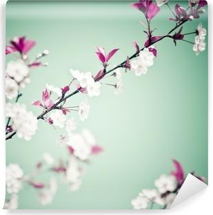 Vinyl-Fototapete Spring Floral Background.
