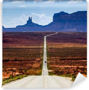 Vinyl-Fototapete Straße zum Monument Valley