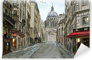 Vinyl-Fototapete Street in paris - illustration