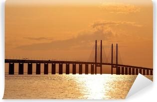Vinyl-Fototapete Sunset @ Öresundbrücke