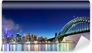 Vinyl-Fototapete Sydney Harbour NYE Fireworks Panorama