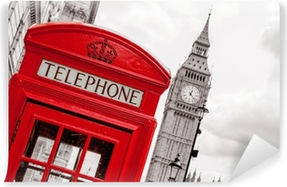 Vinyl-Fototapete Telefonzelle. London, UK