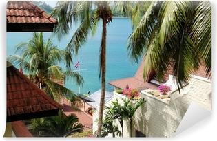 Vinyl Fototapete Terrasse Mit Meerblick In Luxus Hotel, Phuket, Thailand