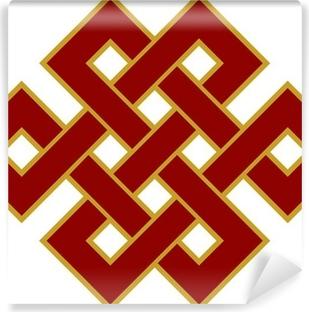 Vinyl-Fototapete Tibetanischer Endlos Knoten - Glückssymbol
