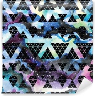 Vinyl-Fototapete Tribal Galaxie nahtlose Muster.