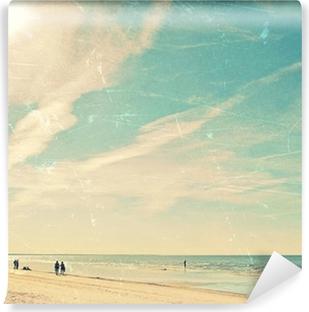 Vinyl-Fototapete Tropischer Strand Vintage-Hintergrund