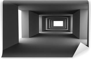 Vinyl-Fototapete Tunnel mit wechselnden hellen und dunklen Streifen. Hallo-res 3d.