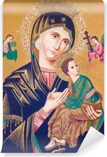 Vinyl-Fototapete Typische katholische Bild der Madonna mit dem Kind (Our Lady of Perpetual Help)