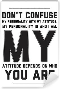 Vinyl-Fototapete Typografie Motivations-Poster mit Zitat auf einem weißen Hintergrund