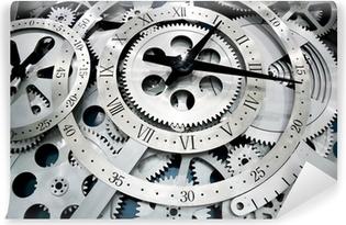 Vinyl-Fototapete Uhr und Getriebe