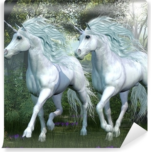 Vinyl-Fototapete Unicorn Elm Wald