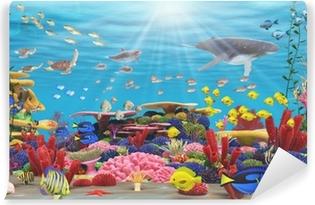 Vinyl-Fototapete Unterwasser-Paradies