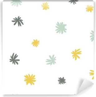 Vinyl-Fototapete Vector nahtlose niedlich minimalistische Blumenmuster.