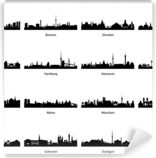 Vinyl-Fototapete Vector Silhouetten von Deutschland