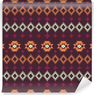 Vinyl-Fototapete Vektor abstrakte geometrische Elemente für Rahmen, Rand Elemente, Muster, ethnische Sammlung, Stammes-aztekischen Kunstdruck, wiederholbaren Hintergrund. Ethnische Boho-Ornament. Stoff Design, Tapeten, Verpackung.