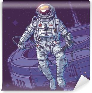 Vinyl-Fototapete Vektor-Illustration Kosmonaut,