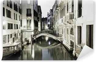 Vinyl-Fototapete Venedig bei Nacht