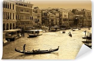 Vinyl-Fototapete Venedig in Sepia getönten