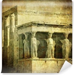 Vinyl-Fototapete Vintage Bild von Karyatiden, Akropolis, Athen, Griechenland
