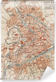 Vinyl-Fototapete Vintage Karte von Erfurt