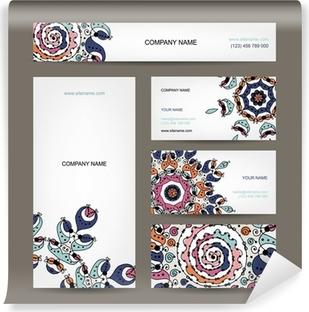 Visitenkarten Sammlung Floralen Design
