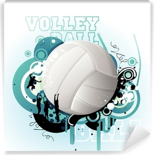 Vinyl-Fototapete Volleyball vector
