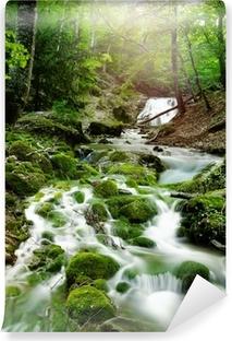 Vinyl-Fototapete Wasserfall im Wald