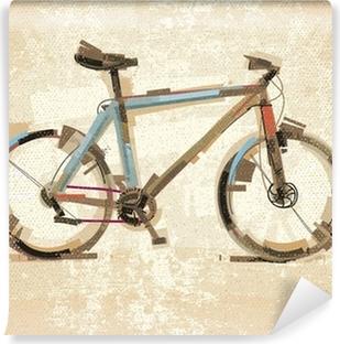 Vinyl-Fototapete Weinlese-Fahrrad