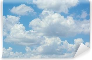 Vinyl-Fototapete Weiße Wolken am blauen Himmel
