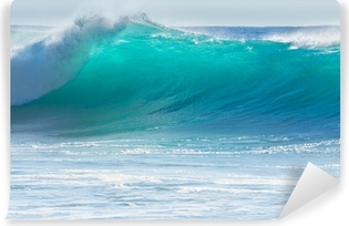 Vinyl-Fototapete Wellen brechen am Ufer des Madeira