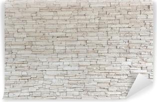 Vinyl-Fototapete White Stone Tile Texture Brick Wall