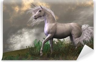 Vinyl-Fototapete White Unicorn Stallion