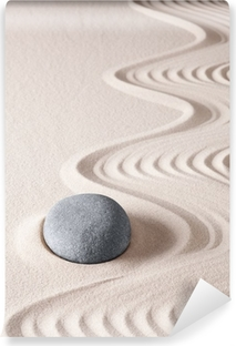 Vinyl-Fototapete Zen-Meditation Stein