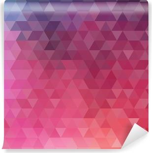 Fototapet av Vinyl Abstrakt färgtriangeln bakgrund
