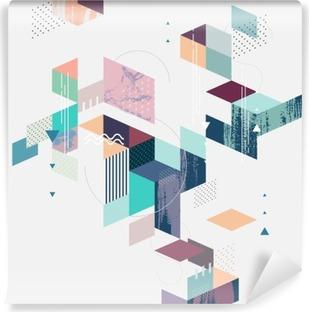 Fototapet av Vinyl Abstrakt modern geometrisk bakgrund