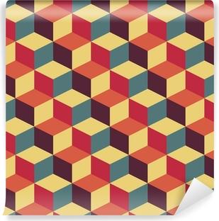 Abstrakt retro geometrisk mønster Vinyl Fototapet