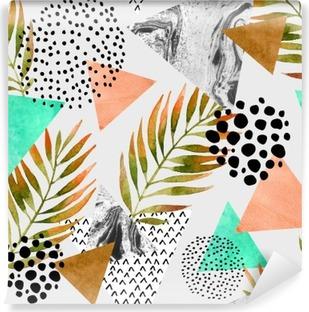 Fototapet av Vinyl Abstrakt sommar geometrisk seamless