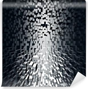 Abstrakt sort geometrisk baggrund. Vinyl Fototapet